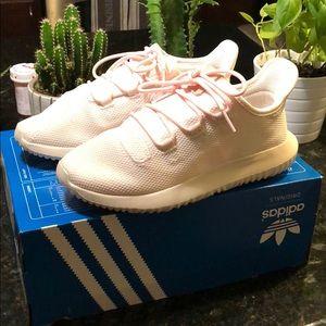 Adidas Girls tubular shadow white / pink